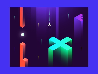 GameOn rebrand moon stellar stars space cosmos pitchdeck mysterious dark cool illustrator graphicdesgn slides redesign rebrand neon colors arcade game gaming game illustration branding