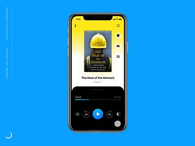 Audioteka app prototype interaction userflow blue uiuxdesign prototype figma audiobooks