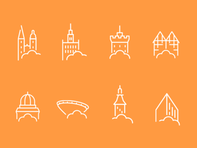 Icons for Polish towns