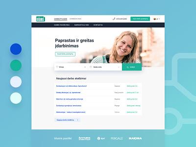 Biuro web page redesign branding minimal ux ui