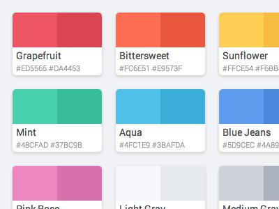 Flattastic Pro Color Palette - HTML / CSS color code html css