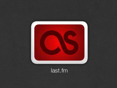 last.fm  icon vector red adobe fireworks