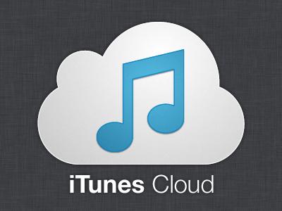 iTunes Cloud vector icon blue white cloud