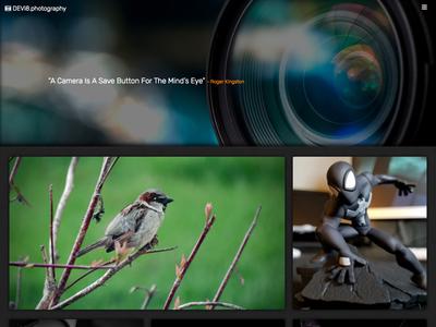 DEVi8.photography css html website