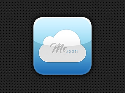 MobileMe.com Icon iphone icon mobileme blue cloud