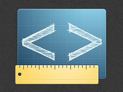 Code Icon icon vector adobe fireworks blueprint ruler
