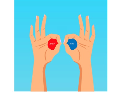 Life movie blue red metaphor funny hands see life mental health stress panic anxiety eyes illusion specs glass 3d