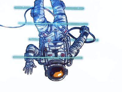 Lost in Space animation web icon vector design illustration adobe sketch