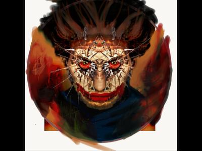 The Scare graphic dc batman joker icon adobe sketch design illustration