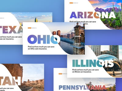 State-specific landing pages landing header home photo pennsylvania utah texas arizona illinois ohio state insurance