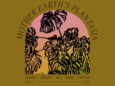 Mother Earth's Plantasia dribbblers dribbble gradient color freelance experimental design texture graphic design vector flat illustration design typography