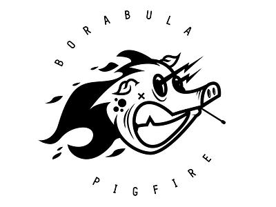 Pig funart design adobeillustration adobe logotype character vectorart logo art illustration vector borabula