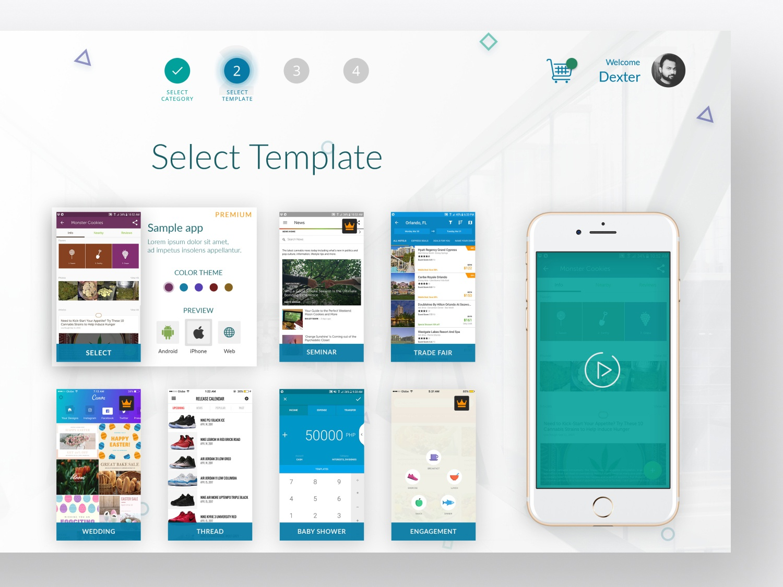 Mobile App Builder UI/UX by Soumeetra Kumar on Dribbble