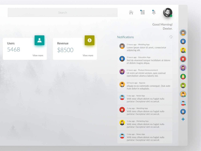 Dashboard Design - WebApp UI/UX by Soumeetra Kumar on Dribbble