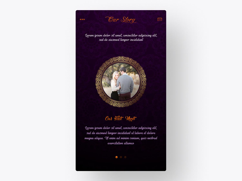 Grandiose - Wedding App UI/UX wedding app branding mobile app app design ux user interface ui user experience soumeetra apploitte