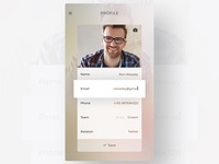 Profile Screen - Wedding App UI/UX
