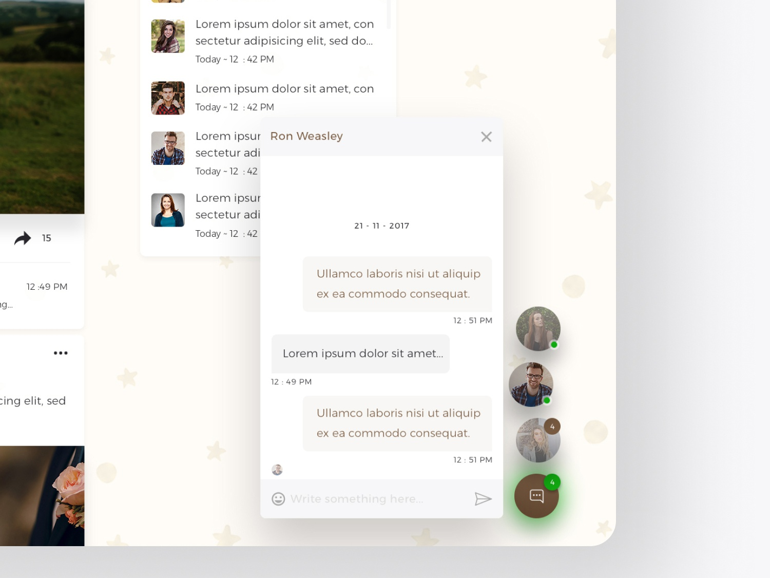 Chat Floating Window - Web UI/UX chat app web design wedding app app design ux ui user interface user experience soumeetra apploitte