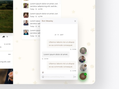 Chat Floating Window - Web UI/UX