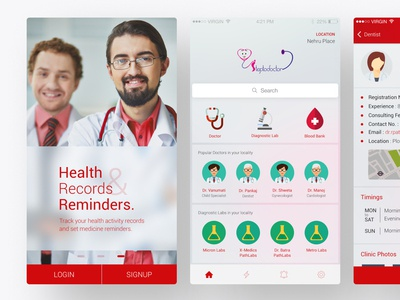 StepToDoctor (For Patients) Mobile App UI/UX