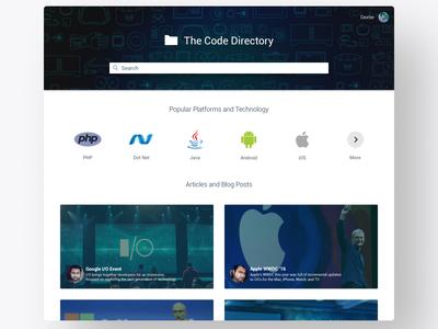 The Code Directory WebApp UI/UX