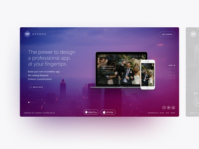 Approx Landing Page UI/UX