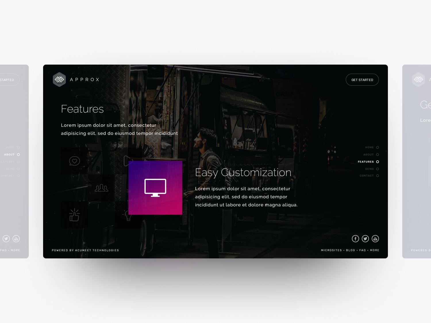 Features Page - Approx web design ux ui user interface user experience design soumeetra apploitte