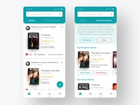 Book Recommendations Mobile App UI/UX