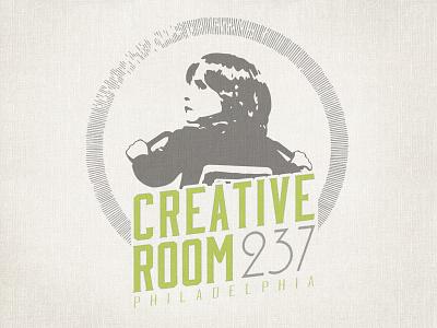 Creative Room 237 // 2-color Logo philadelphia logo illustration retro