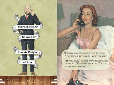 Illustrated Business Cards business cards illustration photoshop vintage retro graphic
