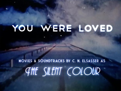 You Were Loved retro film style deco type purple blue
