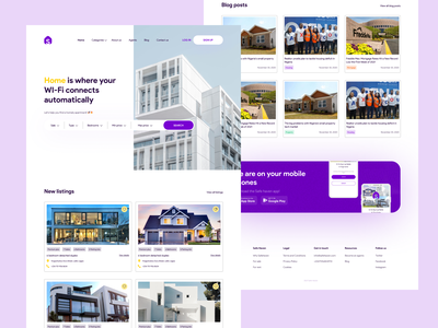 Safe Haven - A landing page homepage webdesign house listing home listing design tech figma design figma ux ui