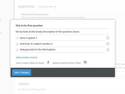 Survey question editor poundsign cms dashboard survey