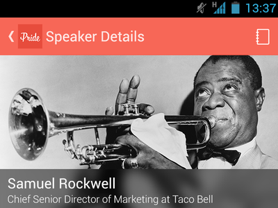 Speaker Profile About ui android poundsign