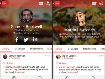 User Profile Rebound ui android poundsign kitkat ux user interface