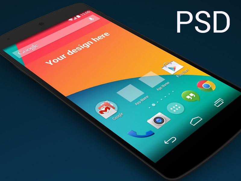 (PSD) Nexus 5 skewed perspective template ui android poundsign kitkat ux user interface psd cool hipster skew perspective freebie