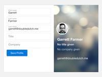 Web Profile setup