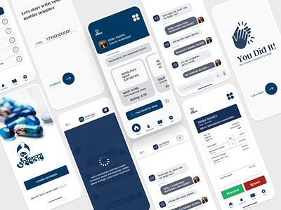 Medicine App UI Design app ux ui