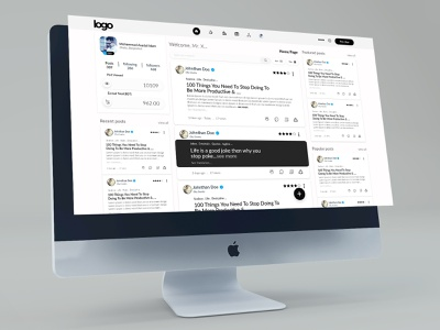 Social Media Platform UI Design dashboard ui web design socialmedia ux ui