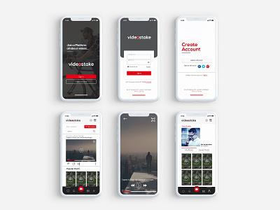 Video Platform App UI/UX design app ux ui