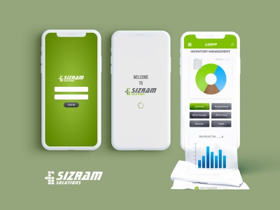 Sizram Inventory UI app dashboard ui ux ui