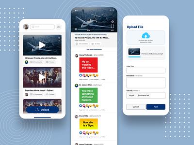 Commenting Tube App Design UX/UI app ux ui