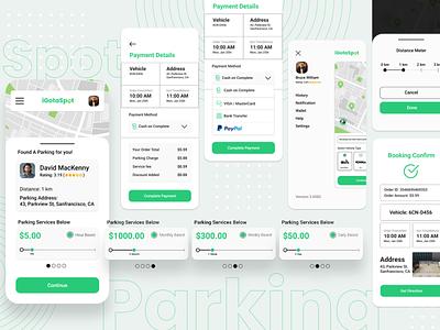 Parking App Package & Booking Design app ux ui