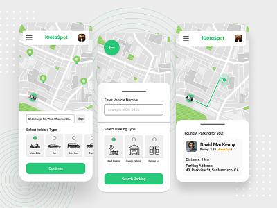 Parking App UI/UX Design ux ui app