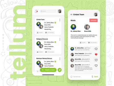 Social Chat App UI/UX Design ux ui app
