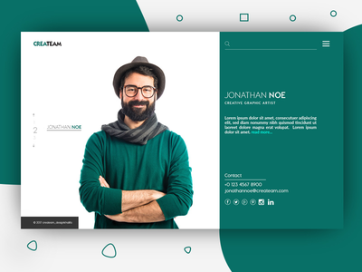 BioPage WebDesign ShortPage webdesign ui web design