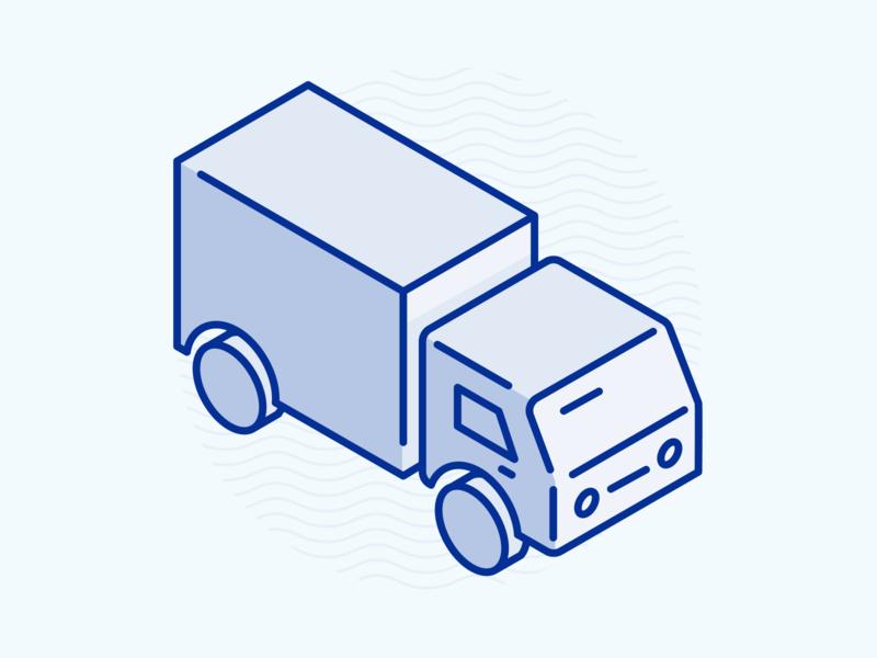 Coast Appliances - Shipping Truck and Details adobe illustrator isometric illustration isometric icons appliances vector illustration