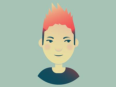 I, Ris illustrator vector portrait