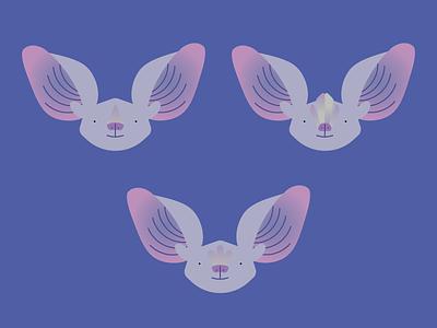 Bat Nosies wip illustrator illustration vector animal head bats