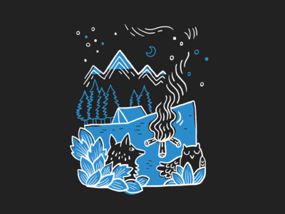 V// Camp 2019 🏕️ t-shirt illustration illustrator design graphic camping animal illustration