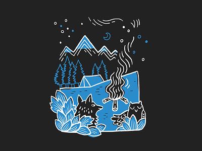 V// Camp 2019 🏕️ t-shirt illustration illustrator design graphic camping animal illustration